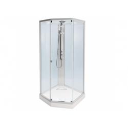 : фото Душевая кабина профиль серебристый, стекло прозрачное 100x100 IDO Showerama 8-5 4985112010