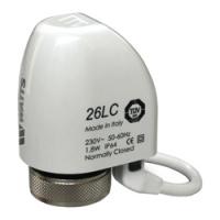 Сервопривод электротермический Watts 26LC NC 230V AC (н.з.)