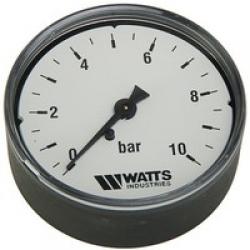 ": фото Манометр аксиальный Watts 50 мм F R100 (MDA) 50/10x1/4"", 0-10 бар"