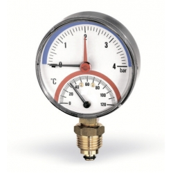 """: фото Термоманометр радиальный Watts F R828 10х1/2"""", DN 80, 0-10 бар"""