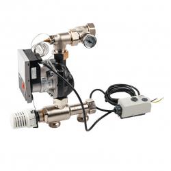""": фото Насосно смесительный модуль Watts ISOMIX-F для коллекторов из нержавеющей стали, с термоголовкой, 1"""", 14 квт"""