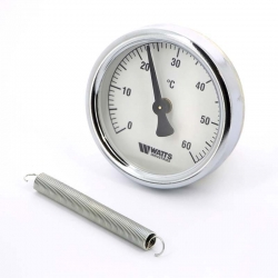 : фото Термометр биметаллический накладной Watts FR810 (ТАВ) 63/120