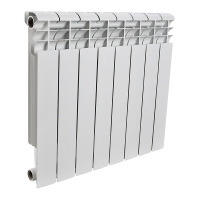 Радиатор алюминиевый Rommer 8 секций OPTIMA Al 500-8