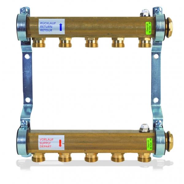 Коллектор для этажной радиаторной разводки WATTS 1'' x 9 выходов HKV/A-9 фото 1